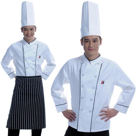 New 2019 High Quality Chef Uniforms Clothing Long Sleeve Men Food Services Cooking Clothes Uniform Chef Jackets