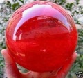 wholesale Asian Rare Natural RARE Red QUARTZ CRYSTAL SPHERE BALL 100mm stand Gem stone Magic Crystal Healing Ball Sphere