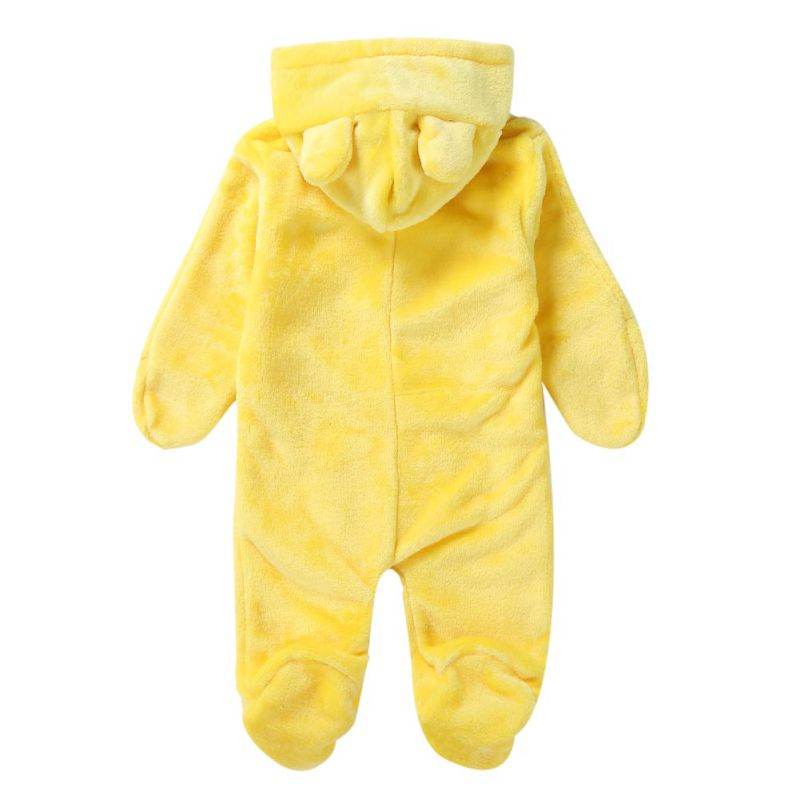 HTB1ws4neCSD3KVjSZFKq6z10VXar Baby Rompers Winter Warm Longsleeve Coral Fleece Newborn Baby Boy Girl Clothes Infant Jumpsuit Animal Overall Pajamas