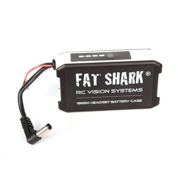 FatShark FSV1814 18650 Li-Ion Cellulaire Lunettes Casque Batterie Cas peut fournir 7.4 V tension nominale pour une utilisation (piles non comprises)