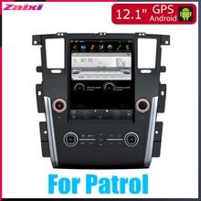 ZaiXi 12.1 Vertical screen android car gps multimedia video radio player in dash for Nissan Patrol 2010~2019 navigaton