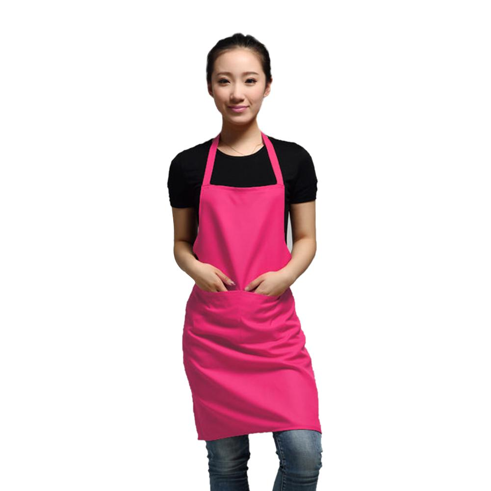 black color 63x70cm polyester classic design work apron kitchen ...