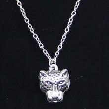 Collier en forme de panthère pour hommes et femmes, 20 pièces, 19x15mm, pendentifs tête léopard, ras du cou, cadeau