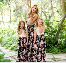 mother daughter matching clothes family clothing mom and baby 2019 summer dresses mom and daughter dress big sister clothing