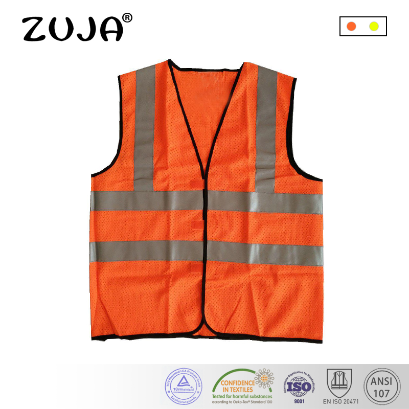 Workplace Safety Supplies Safety Clothing Orange Work Reflective Jacket Safety Mesh Vest With 3m Tape Fancy Colours