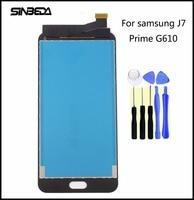 Sinbeda Black White Gold For Samsung Galaxy J7 Prime G610 G610F G610K G610L Best Quality LCD