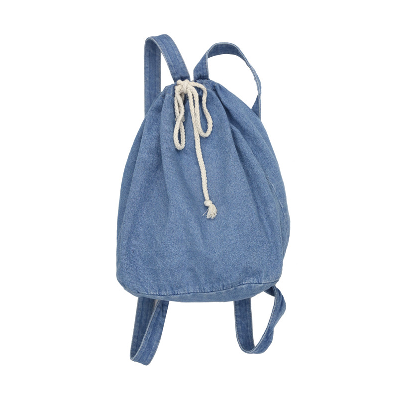 12998fc01ac1 Backpacks Cheap Backpacks 2018 New Denim Solid Backpack Female.We offer the  best wholesale price
