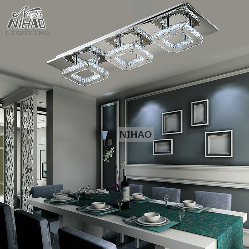 Modern LED Diamond Crystal Ceiling Light Fitting Crystal Lamp for Hallway Corridor Fast Shipping