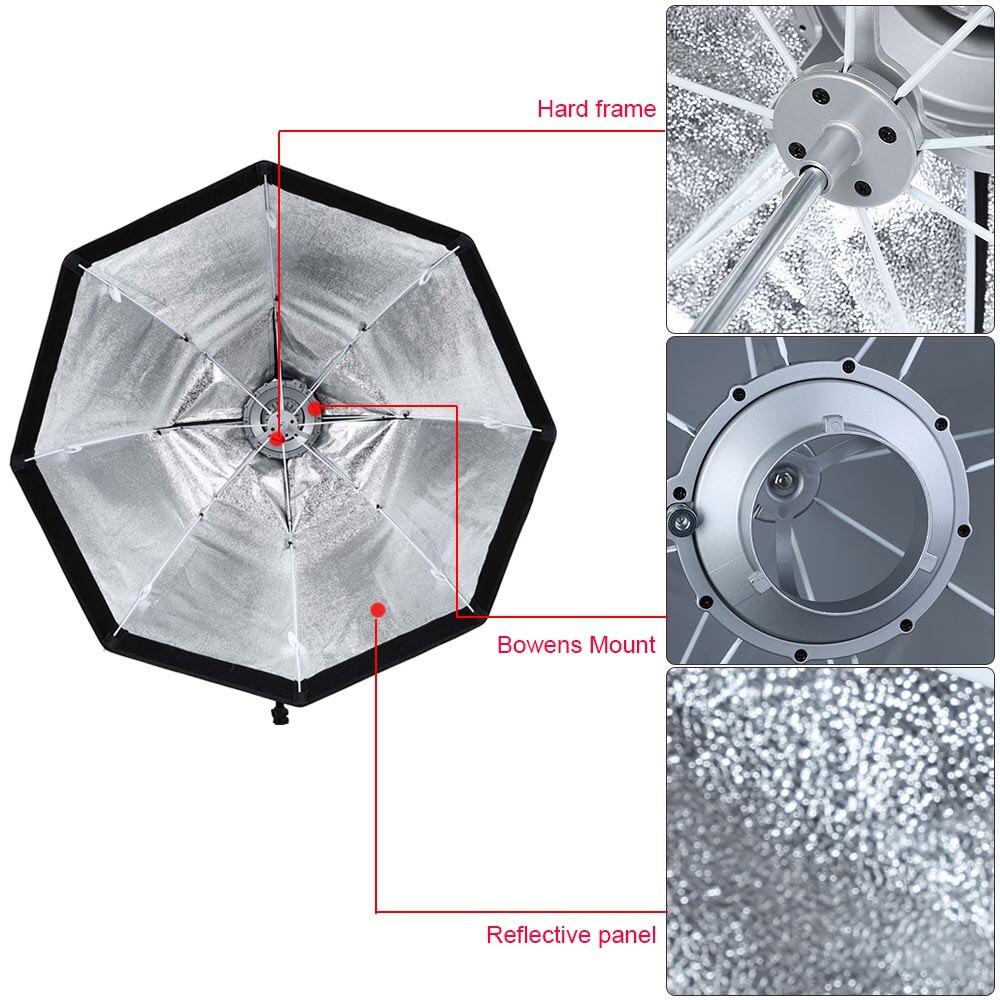 Godox SB-UE 80cm Bowens montaje Octagon Honeycomb rejilla paraguas Softbox para Godox Speedlite Flash fotografía estudio Accesorios - 6