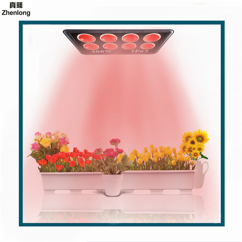 LED Grow Light 400W Full Spectrum for Indoor Greenhouse Grow Tent Plants Grow Led Light Fill Lamp High Power Flood Lamp Aluminum