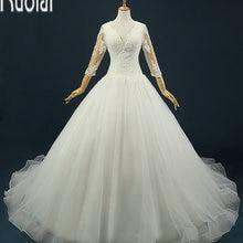 Ruolai Custom Made Sweep Train Wedding Dresses Open Back