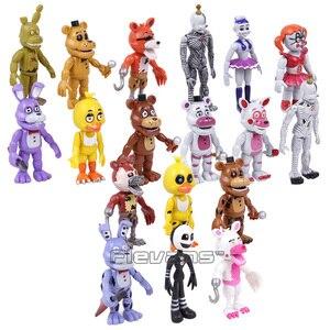 Image 2 - Brinquedos 18 pçs/set Bonnie Foxy das cinco Noites no Freddy Freddy Fazbear Urso PVC Figuras de Ação 18 pçs/set