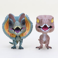 10cm Dinosaurs Figures dolls Velociraptor Dilophosaurus Dinosaur PVC Action Figures Collection Model Toy(China)