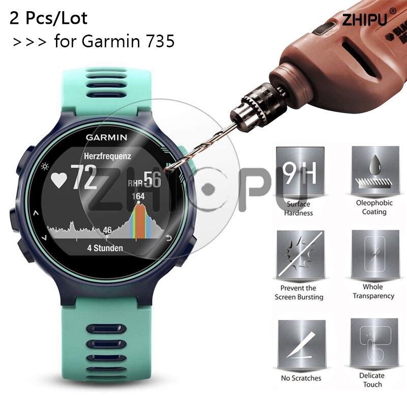 2 Pcs/Lot 9H Tempered Glass For Garmin Forerunner 735XT Screen Protector For Garmin Forerunner 735XT 735 XT SmartWatch