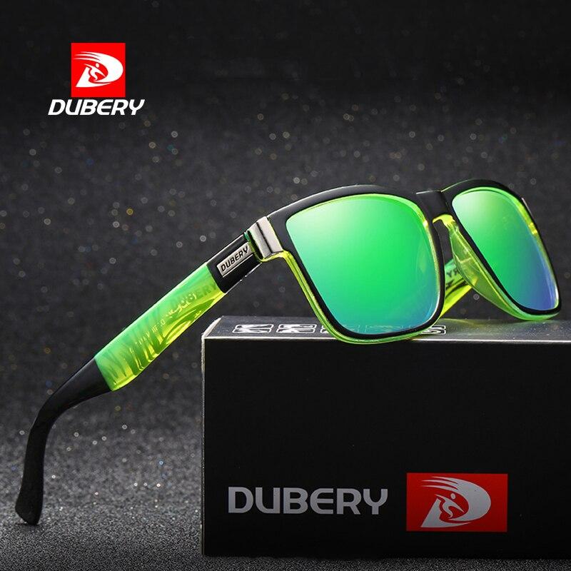 2018 nuevo DUBERY Polarized hombres gafas de sol de lujo marca diseñador de revestimiento espejo lente Vintage gafas de sol de conducción pesca