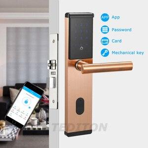 Image 4 - Elektroniczny zamek do drzwi, inteligentny Bluetooth cyfrowy aplikacji klawiatura kod Bezkluczowy zamek do drzwi