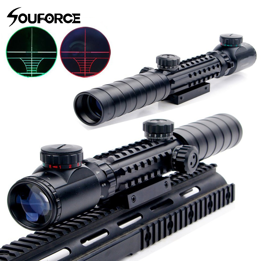 3 in 1 Combo 3 9X32EG Riflescope Red Green Dot Holographic Reflex Sight Long Range Red