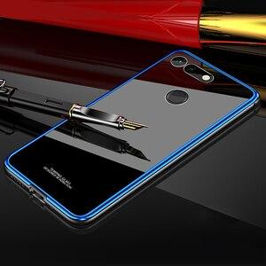 Image 1 - アルミニウム金属フレームケース Huawei 社の名誉 V20 ケース View20 強化ガラス裏表紙 Huawei 社の名誉 V20 金属バンパーケース