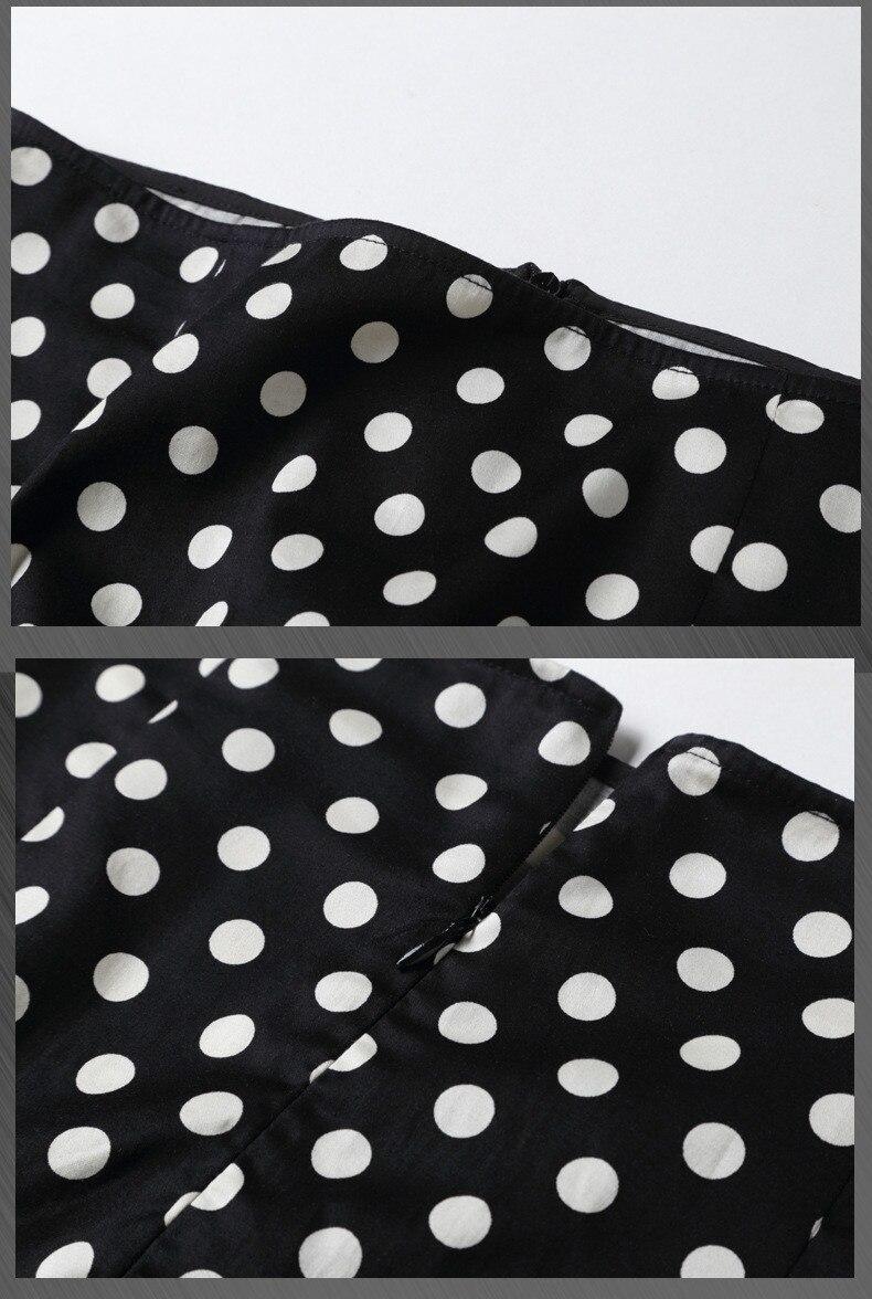 dot 2018 Fishtail black Falda white Nuevo Delgada Cintura Irregular Verano Blue El Cuenta Y Alta Con Una stripe qfagw7E
