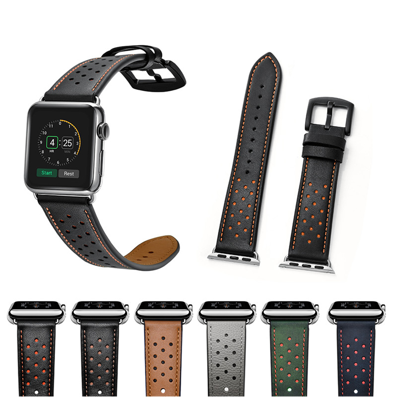 ASHEI New Watch Strap for Apple Watch Band Leather 42mm Wrist Bands 38mm Replacement Straps for iWatch Nike+ Series 3 2 1 Belt genuine leather classic buckle watch straps wrist band for apple watch 42mm red