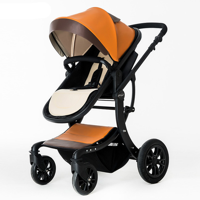 Comfortable waterproof baby stroller can sit on the high landscape folding baby cart four universal newborn