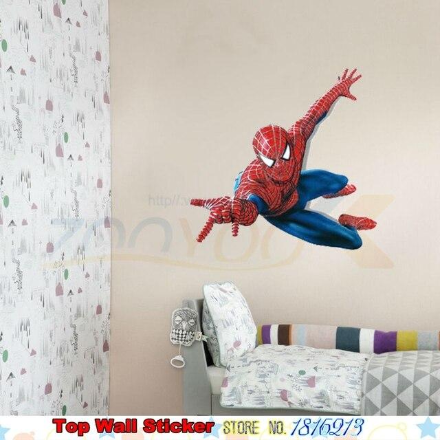 3D Spiderman Muursticker Voor Kids Jongens Kamer Muurstickers Xmas ...