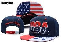 USA American Flag Baseball Cap Snapback Adjustable Hip Hop Men Women Cap Embroidery Snapback Golf Cap