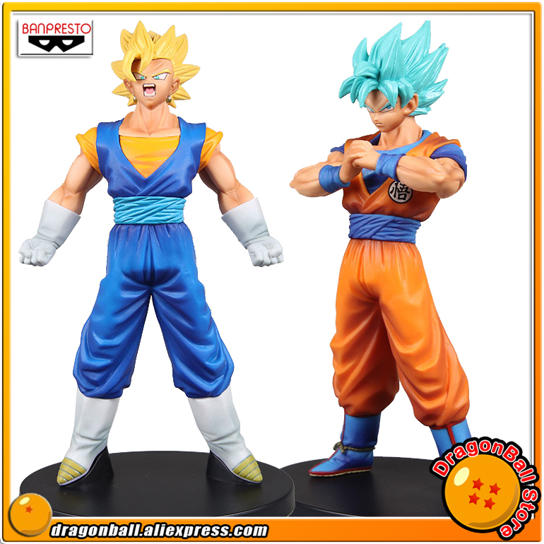 Dragon Ball SUPER Original Banpresto DXF THE SUPER WARRIORS vol.4 Collection Figure - Super Saiyan Vegetto + Son Gokou Blue 32cm dragon ball super the super warriors vol 3 figure collection goku black action figure