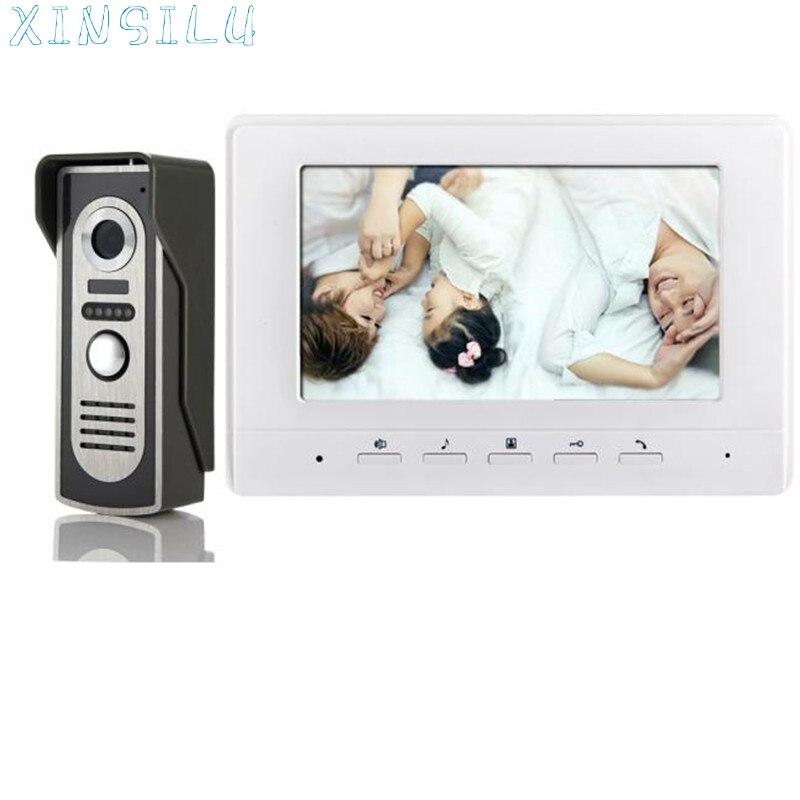 ФОТО Hot!Quality Doorbell Intercom 7 inch Video Intercom Door Phone Camera Recorder Dual Way Talk Visual Intercom drop shipping Mar9