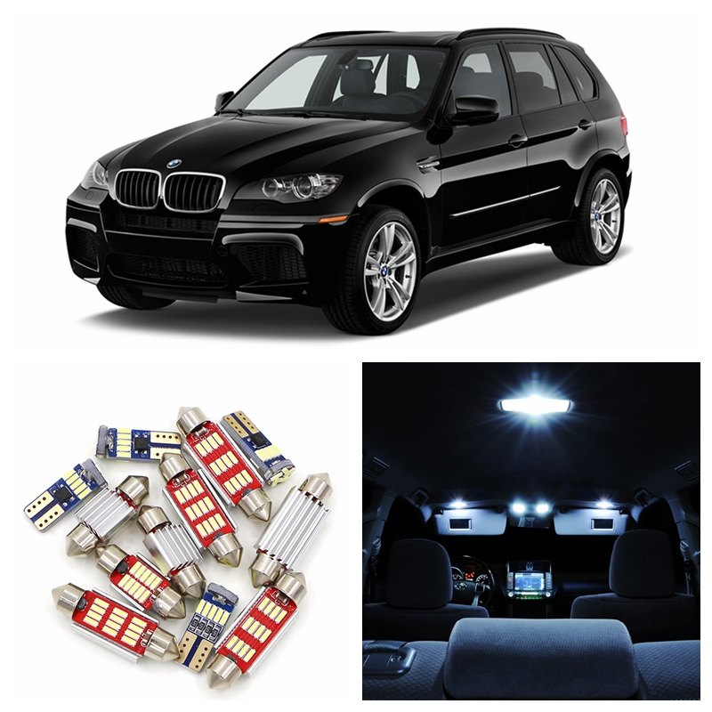 18pcs Super Bright White Canbus Car LED Light Bulbs Interior Package Kit For 2008-2012 BMW X5 Map Dome Trunk Door Lamp 14pcs error free white canbus car led light bulbs interior package kit for 2002 2007 volvo v70 estate xc70 map dome trunk lamp