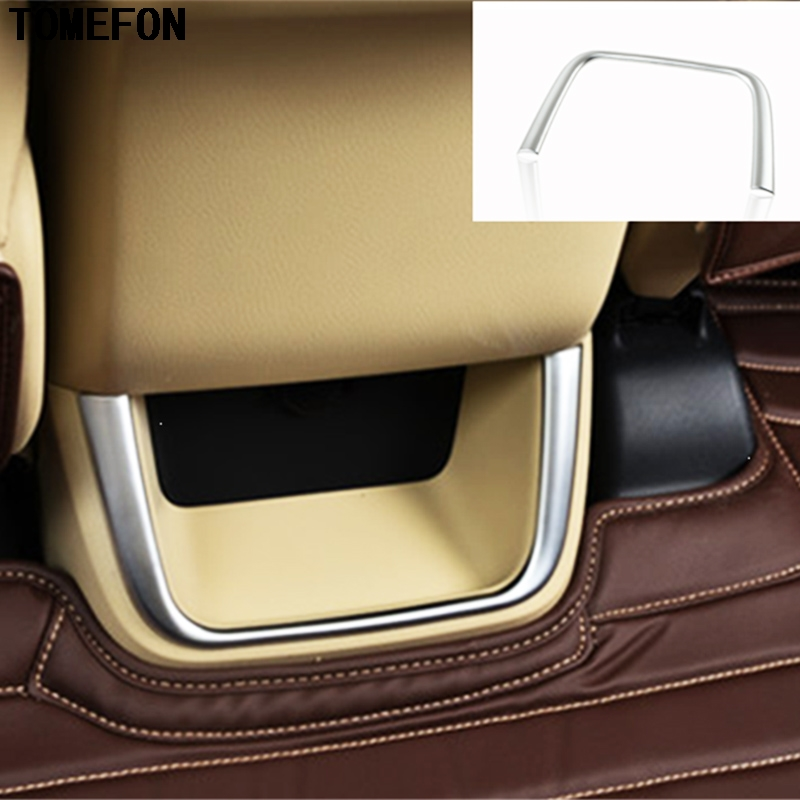 TOMEFON Armrest Box Rear Air Vent Trim Cover Molding Interior Accessories For Toyota Highlander Kluger XU50 2014 2015
