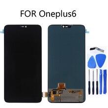 AMOLED LCD الأصلي عرض ل Oneplus 6 عرض تعمل باللمس استبدال كيت 6.28 بوصة 2280*1080 الزجاج شاشة + أدوات