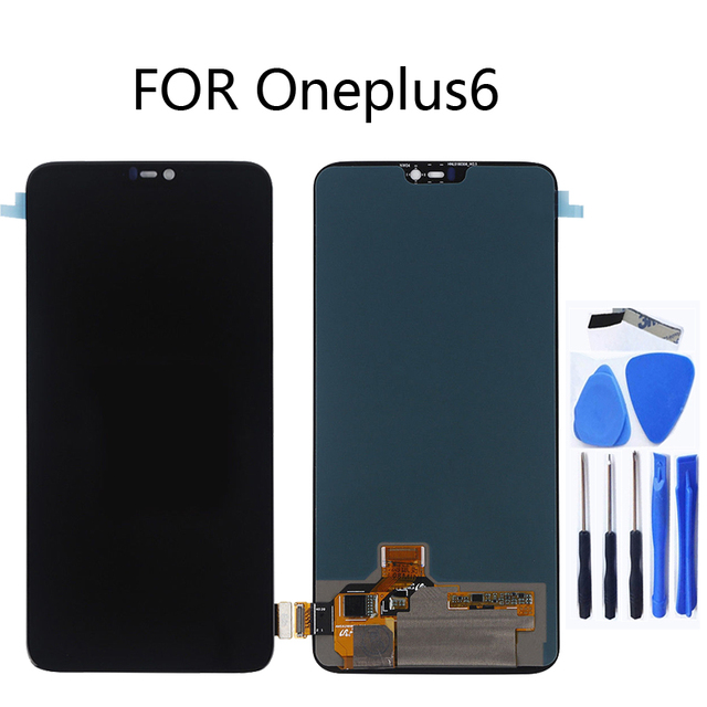 AMOLED original LCD display for Oneplus 6 display touch screen replacement kit 6.28 inches 2280 * 1080 glass screen + tools
