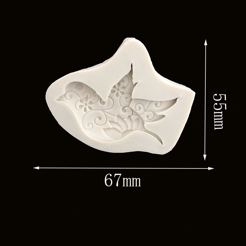 New Fancy Swallow Birds Pigeons Silicone Mold Chocolate Fondant Cake Decorating Tool Childlike Ultra-light Clay