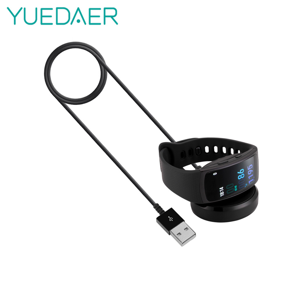YUEDAER Smart Watch charger for Samsung Gear Fit2 Pro USB Charging Cable Dock Charger for Gear Fit2 SM-360 wireless charger line