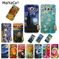 MaiYaCa Phone Case For samsung Galaxy s8 s9 s5 s7 s6 edge plus case Scream by Munch Van Gogh Starry Night Star Palette