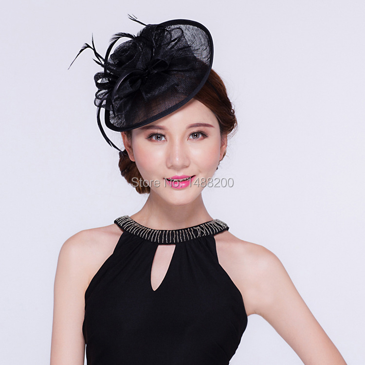 New Crimping Small Hat Headband Headdress Small Hat Flowers Feathered  Bridal Hats For Banquet Wedding Party Cappelli Sombrero-in Bridal Headwear  from ... be88d37c7a5