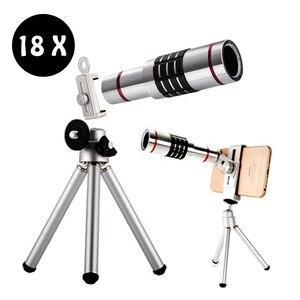 18X зум телефон телескоп телеобъектив камеры для iPhone Android штатив
