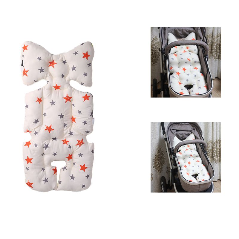 Stroller Seat Cushion Cartoon Warm Cover Diaper Pad Cotton Baby Cart Mat Pram Kids Sleeping Mattress Lining Blend Cotton Strollers Accessories
