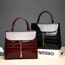 Hot Crocodile Patent Leather Tote Bag Women Handbags Luxury Women Bags Designer Crossbody Shoulder Bags Famous Brand Trunk Bloso