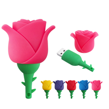Silicone Rose USB Flash Drive romantic gift Pen Drive 4gb 8gb 16gb 32gb 64gb External Storage Pendrive Flash Memory Stick USB2.0