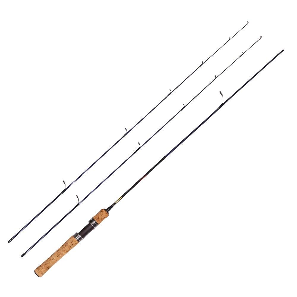 UL caña de pescar giratoria carbono 1,68 m doble puntas 2-6g peso señuelo 3-7lb peso de la línea varillas ultraligeras para lucio trucha