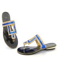 2017 Yeni Geliş Kadın Rhinestone Ayakkabı Pompalar Moda Bayanlar Düşük Topuklu Terlik Ayakkabı Toptan Boyutu 37-43 Fabrika Fiyat THS17-07