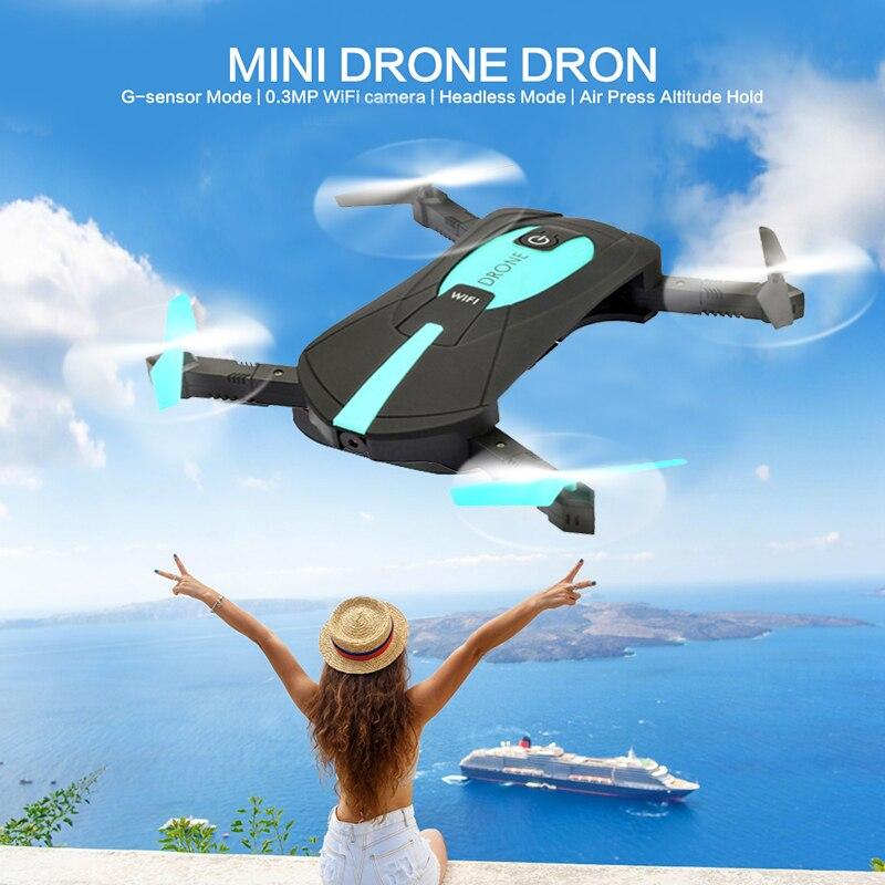 H37 JY018 ELFIE WiFi FPV Quadcopter 2MP 720 p píxeles Mini Dron plegable Selfie Drone con cámara HD error profesional RC helicóptero