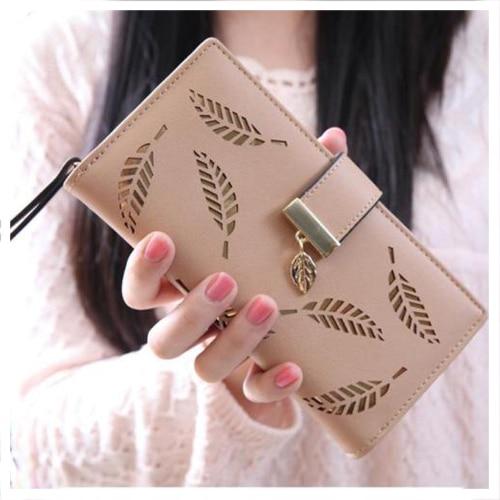 Hot Fashion Fashion Women Leaf Wallet Clutch Card Holder Long Bag - Portemonnees en portefeuilles