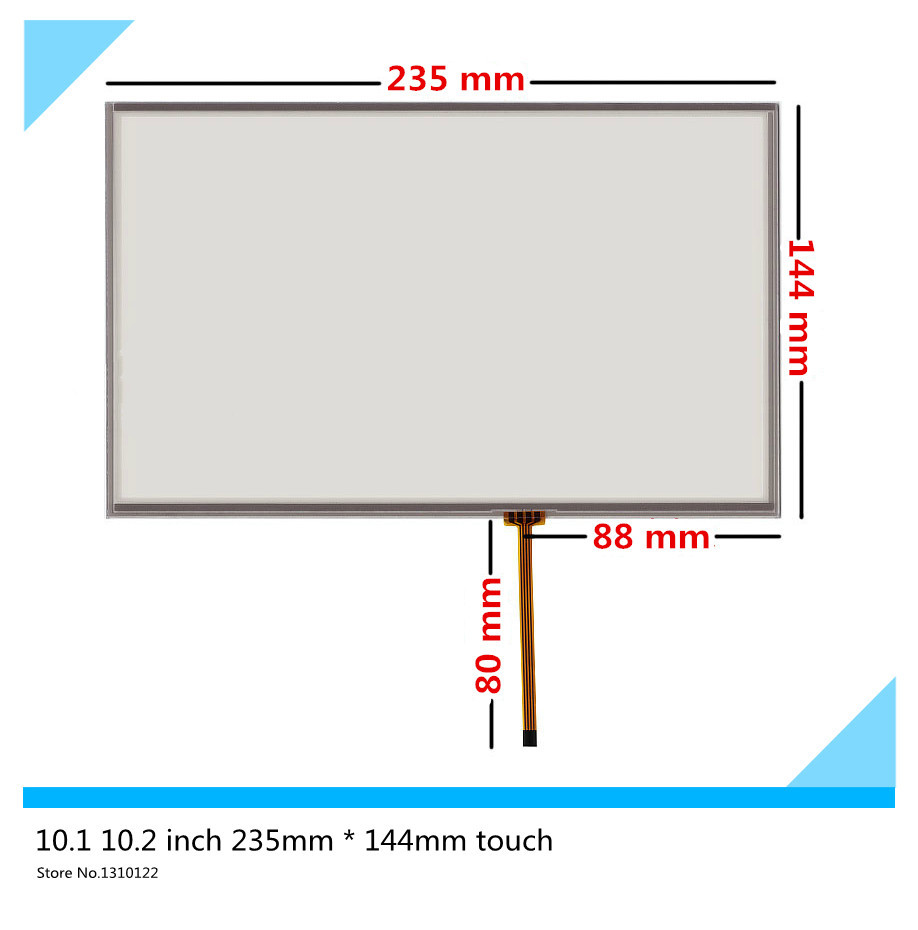 ФОТО 10.1 10.2 inch 4 wire 235mm*144mm Resistive Touch Screen Digitizer for Industrial equipment