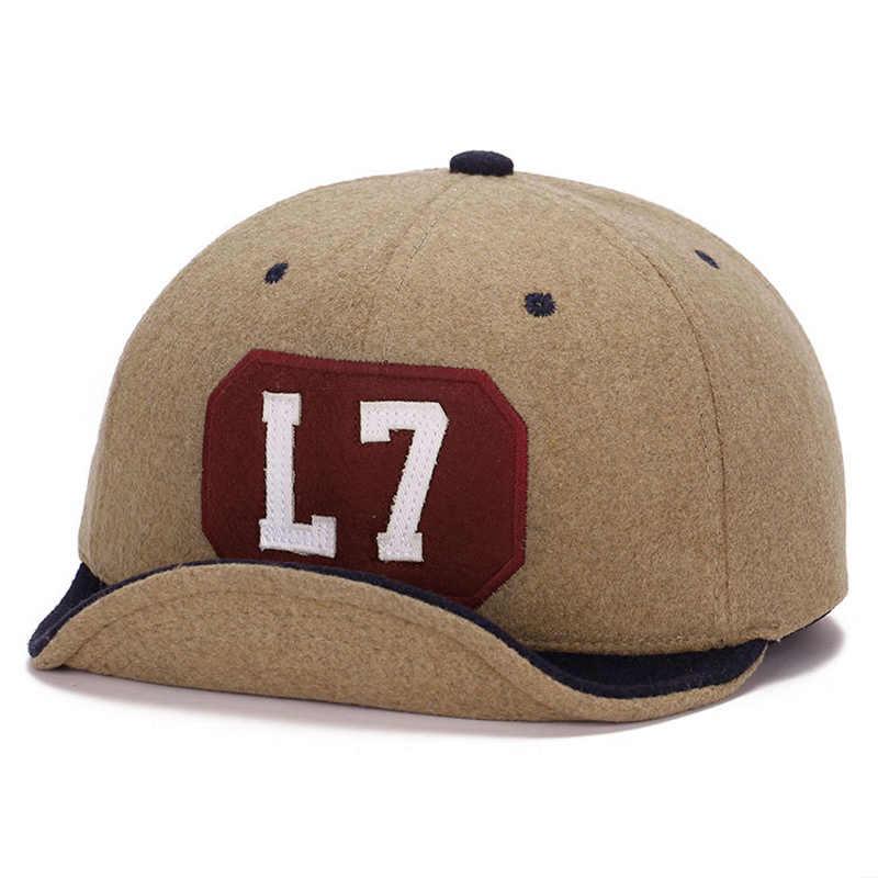 34542395 ... 2018 New Woolen Felt Baseball Cap for Men Women Roll Brim Hip Hop Style  Street Hats ...