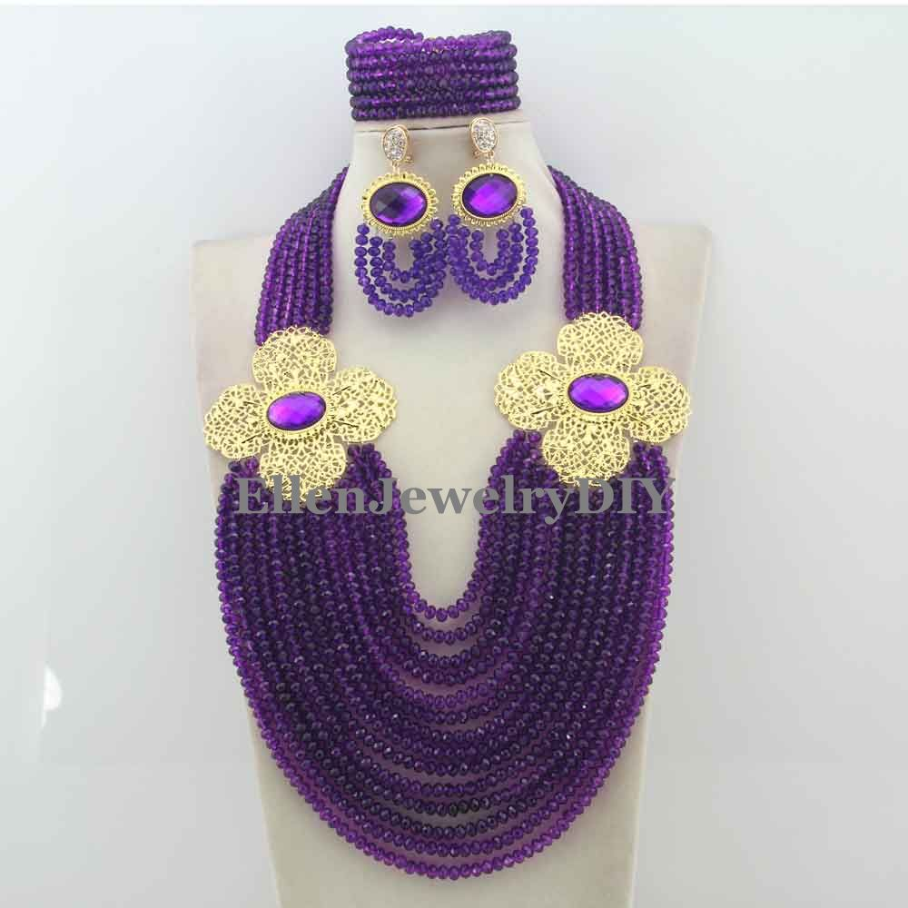 Hot Nigerian Wedding African Beads Jewelry Set Crystal Beads Necklace Jewelry Set Free Shipping W12247Hot Nigerian Wedding African Beads Jewelry Set Crystal Beads Necklace Jewelry Set Free Shipping W12247