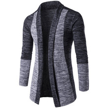 2016 New Autumn Men Jacket Cardigan Fashion Slim Fit Coat Patchwork Casual Business Stand Collar Sweaters Masculino Male Clothes