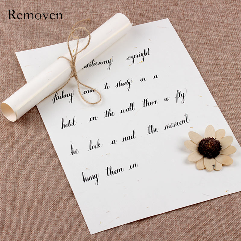 Cute A4 Paper Letter Drawing Paper 5 sheets Calligraphy Paper Europe Style Vintage  Love Letter with Hemp Rope Printer Friendly